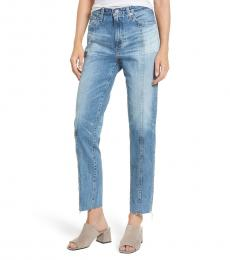 AG Adriano Goldschmied Blue Phoebe Raw Edge Hem Jeans