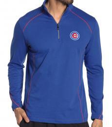 Tommy Bahama Royal Blue-Home Run Half-Zip Sweatshirt