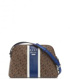 DKNY Mocha/Royal Blue Whitney Small Crossbody