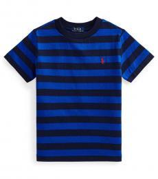 Ralph Lauren Little Boys Sapphire Navy Jersey T-Shirt