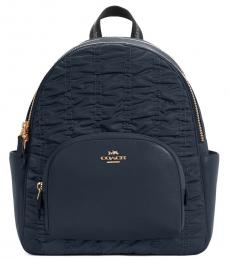 Coach Navy Blue Court Large Backpack