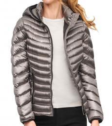 Calvin Klein Shine Granite Hooded Packable Down Puffer Jacket
