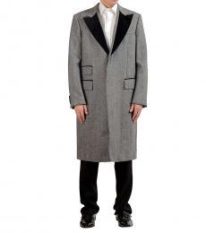 Grey Three Button Blazer