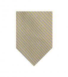 Ralph Lauren Yellow Skinny Stripes Silk Tie