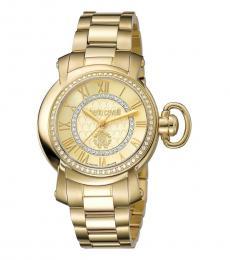 Roberto Cavalli Gold Champagne Classic Watch