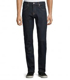 Rinse Textured Straight-Fit Jeans