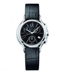 Calvin Klein Black Groovy Dainty Watch