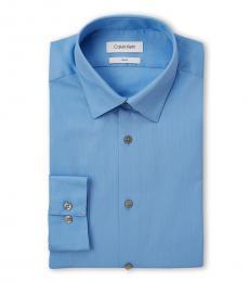 Light Blue Stripe Slim Fit Dress Shirt