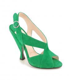 Prada Green Slingback Heels