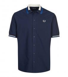 Navy Blue Logo Polo Shirt