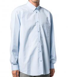 Balenciaga Light Blue Cocoon Oversized Shirt
