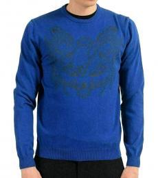 Blue Logo Crewneck Sweater