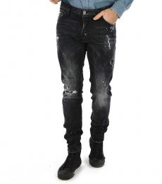 Black Painted Cool Guy Jeans