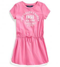 Ralph Lauren Little Girls Baja Pink Graphic Tee Dress