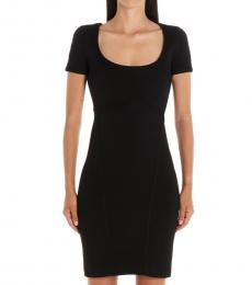 Dsquared2 Black Compact Jersey Dress