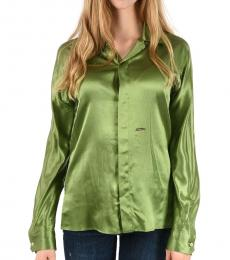 Green Silk Shirt