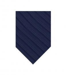 Michael Kors Navy Accent Stripe Silk Tie