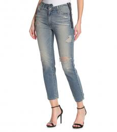 AG Adriano Goldschmied Blue Isabelle Side Zip Jeans