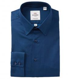 Ben Sherman Navy Blue Tailored Slim Fit Dress Shirt