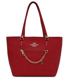 Coach Red Town Large Tote