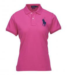Ralph Lauren Pink Skinny Fit Polo