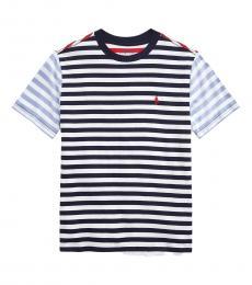 Ralph Lauren Boys Newport Navy Multi Striped T-shirt