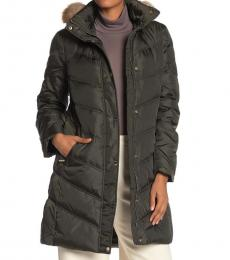 Michael Kors Ivy Down Faux Fur Trim Jacket