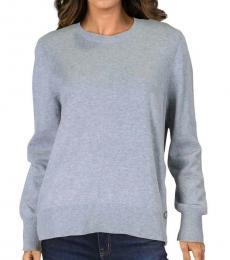 Michael Kors Pearl Heather Ribbed Snap Hem Sweater