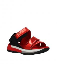 Red Sea Coral Leather Sandals