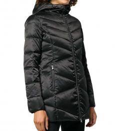 Emporio Armani Black Puffer Short Logo Jacket