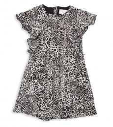 BCBGirls Little Girls Black Ruffled Dress