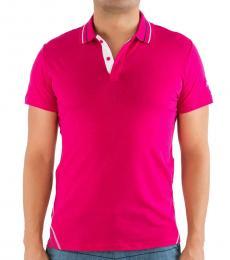 Just Cavalli Dark Pink Classic Cotton Polo
