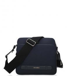 Dolce & Gabbana Navy Zip Pocket Medium Crossbody