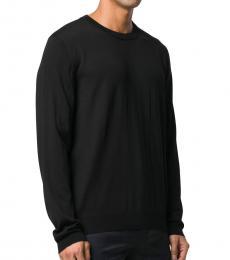 Balenciaga Black Embroidered Cotton Sweater