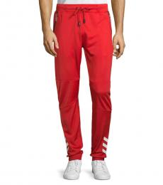 Red Drawstring Track Pants