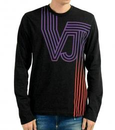 Versace Jeans Black Graphic Long Sleeve T-Shirt