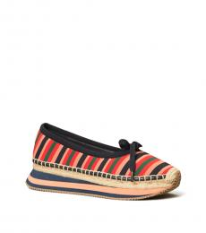 Tory Burch Multicolor Striped Daisy Ballet Flats