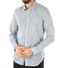 Diesel Blue Striped Easter Shirt