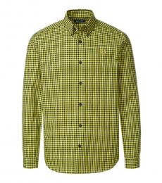 Fred Perry Yellow Logo Check Shirt