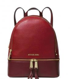 Oxblood Rhea Zip Medium Backpack