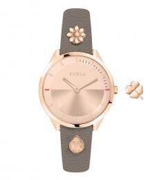 Furla Rose Gold Logo Watch