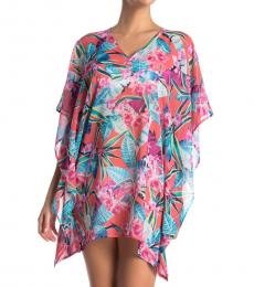 Paradise Floral V-Neck Cover-Up Tunic