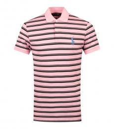 Ralph Lauren Pink Black Pony Golf Polo