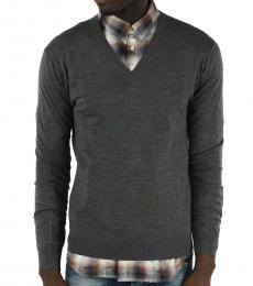 Dsquared2 Grey V-Neck Sweater