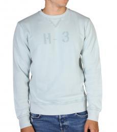 Hackett Light Blue Front Logo Sweatshirts