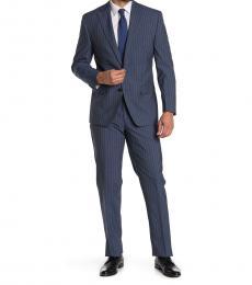 Ralph Lauren Dark Blue Pinstripe Blend 2-Piece Suit