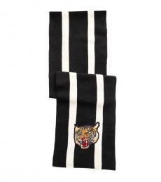 Ralph Lauren Black-White Striped Scarf