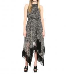 Michael Kors Caramel Printed Handkerchief-Hem Dress