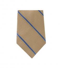 Michael Kors Mustard Well Tailored Striped Slim Silk Tie