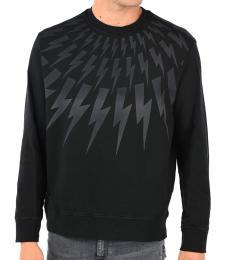 Neil Barrett Black Thunder Printed Sweatshirt
